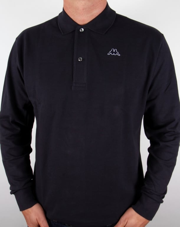 Robe Di Kappa Aarberg Long Sleeve Polo Shirt Navy