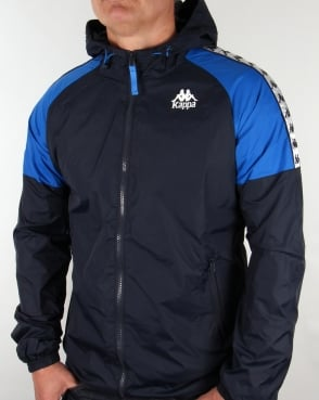 Robe Di Kappa Anfield Hooded Jacket Navy/Royal Blue