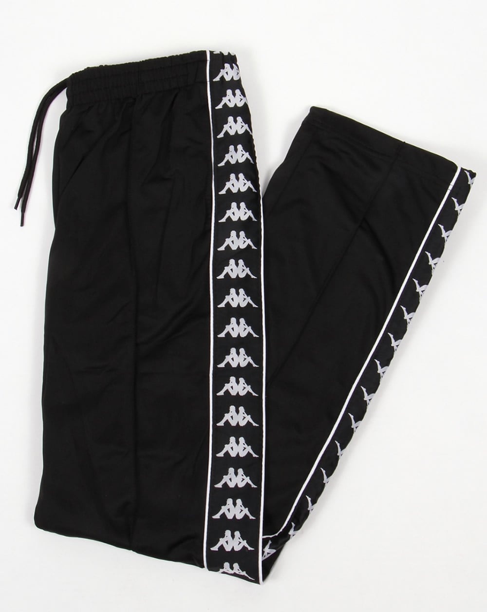 6b71a2b38a Robe Di Kappa Banda Track Bottoms Black - Tracksuit Bottoms from 80s ...