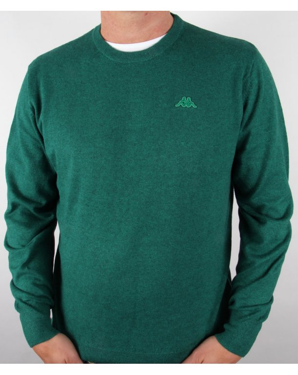 Robe Di Kappa Cotton Cashmere Crew Neck Jumper Dark Green