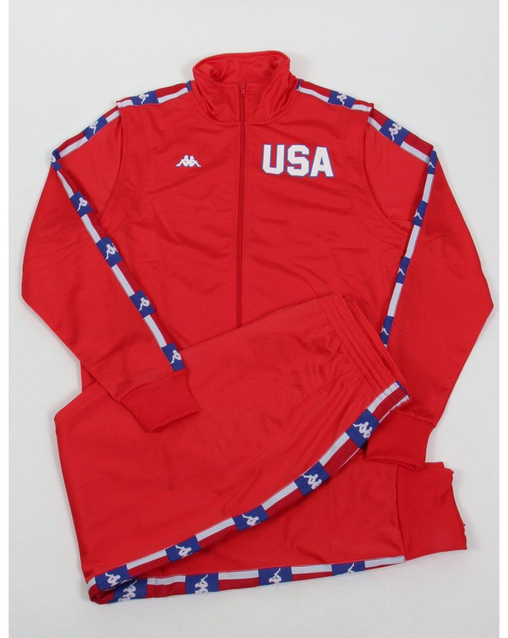 e93c08b396 Robe Di Kappa La84 Usa Olympic Full Tracksuit Red
