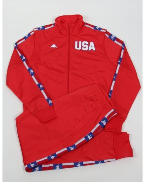 Robe Di Kappa La84 Usa Olympic Full Tracksuit Red
