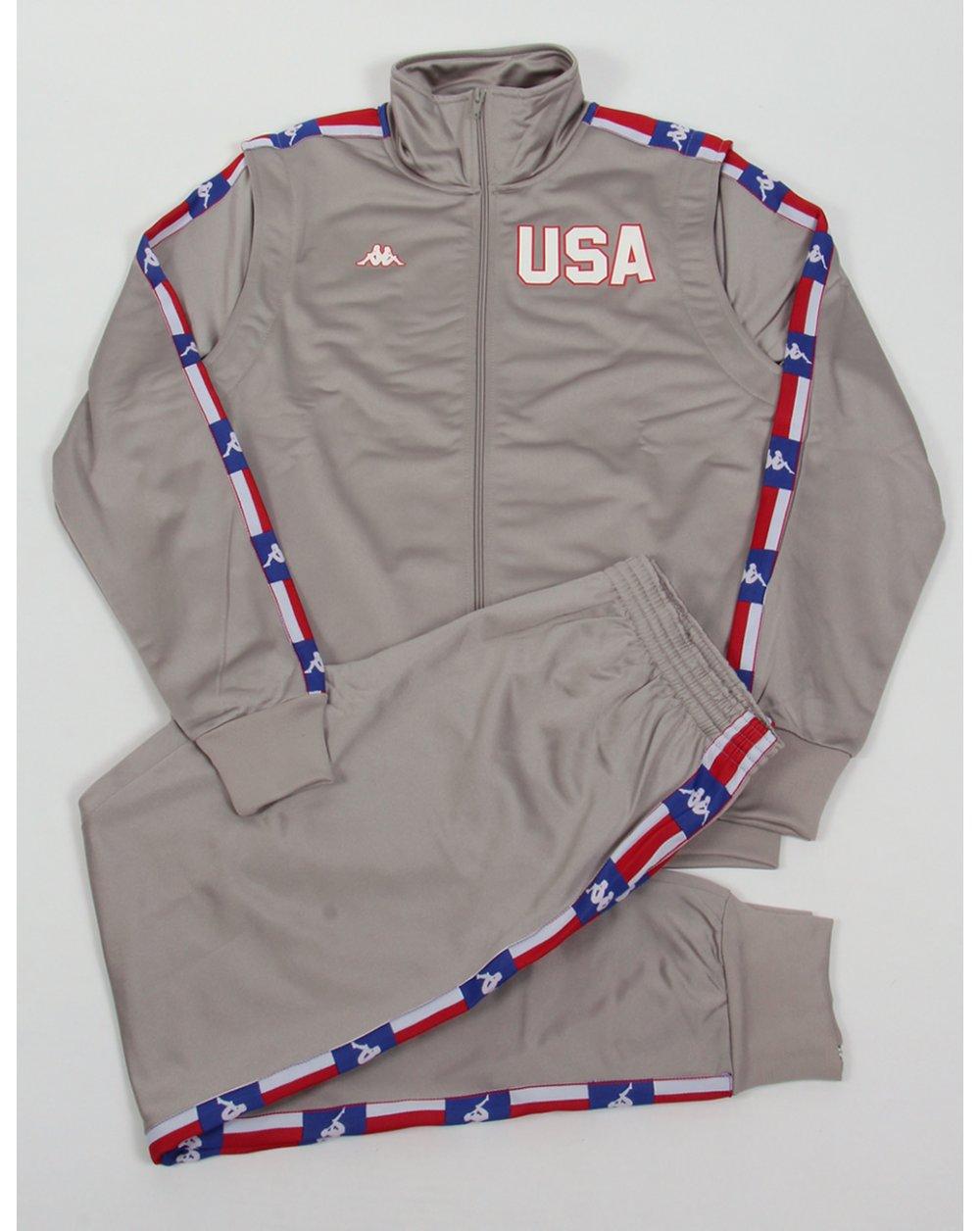 0dda7203 Robe Di Kappa La84 Usa Olympic Full Tracksuit Silver Grey