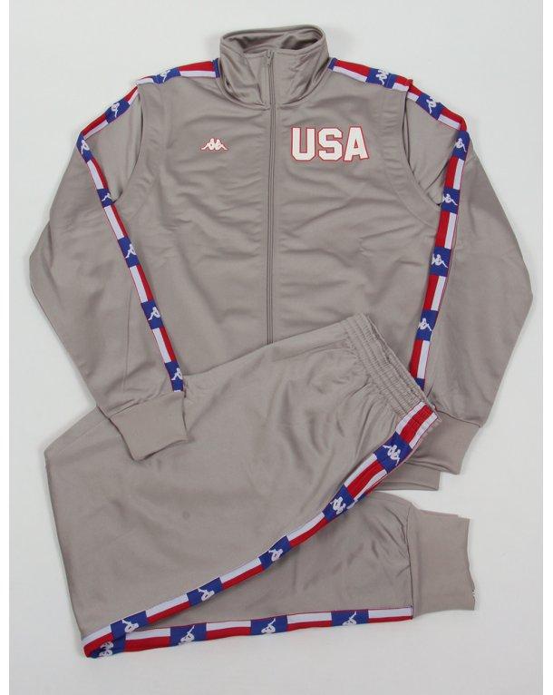 Robe Di Kappa La84 Usa Olympic Full Tracksuit Silver Grey