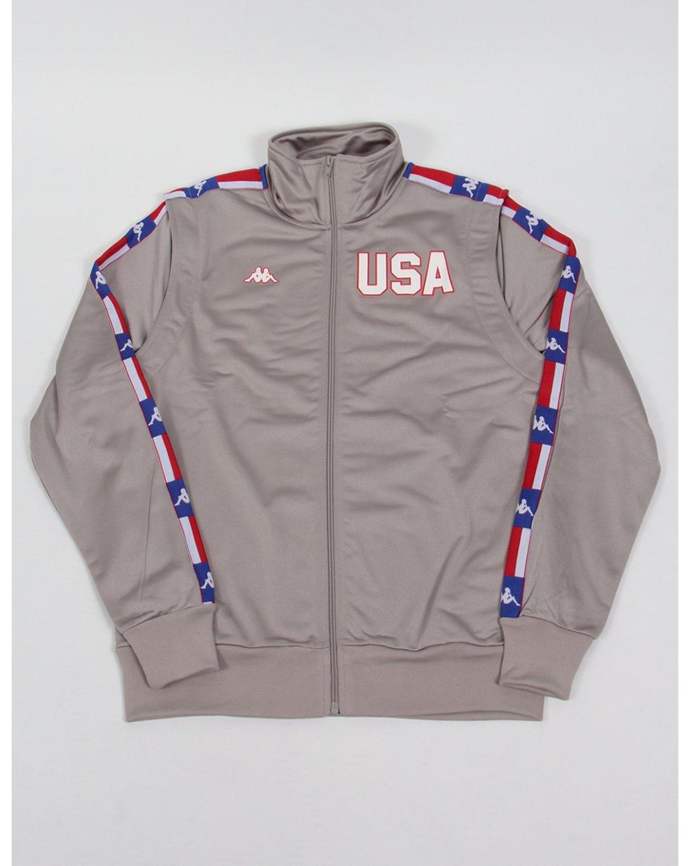 7787b89ac5 Robe Di Kappa La84 Usa Olympic Full Tracksuit Silver Grey