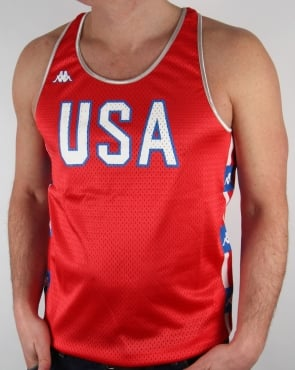 Robe Di Kappa LA84 USA Olympic Vest Red