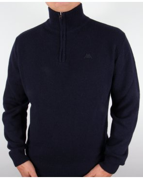 Robe Di Kappa Lambswool Half Zip Jumper Navy