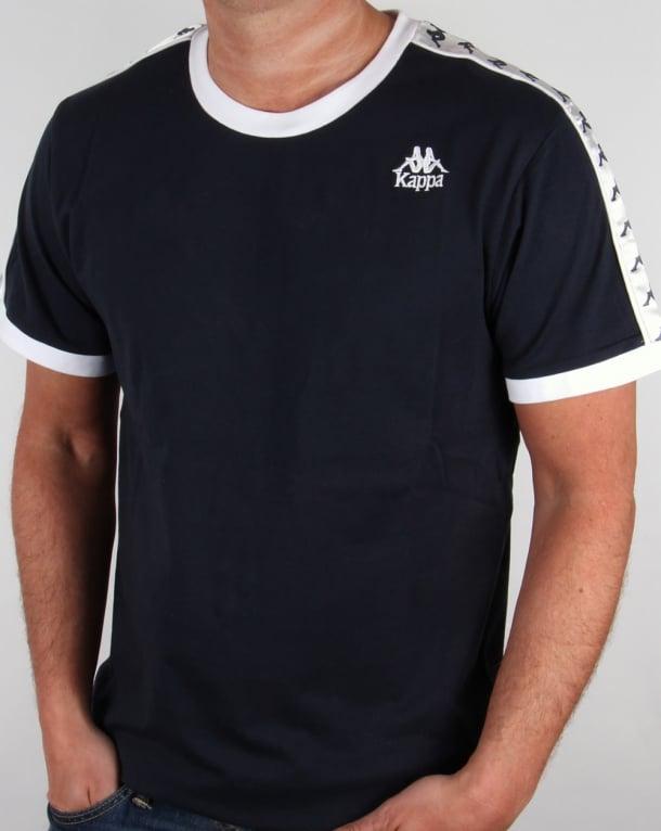 Robe Di Kappa Logo Ringer Taping T-shirt Navy