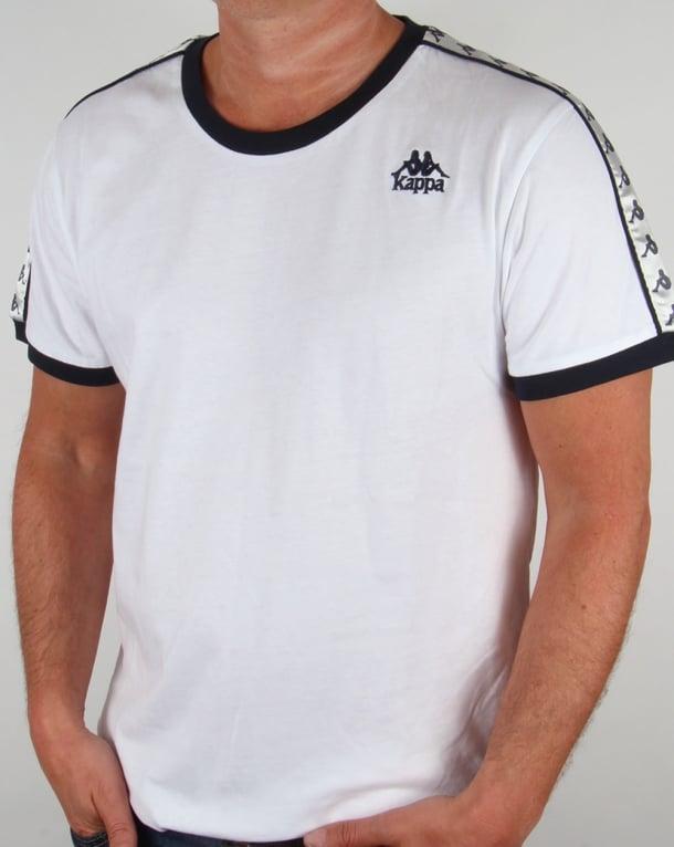 Robe Di Kappa Logo Ringer Taping T-shirt White