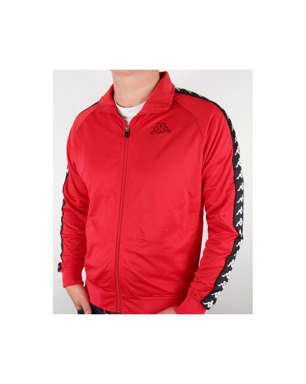 Robe Di Kappa Logo Track Top Red - kappa tracksuit top, orange