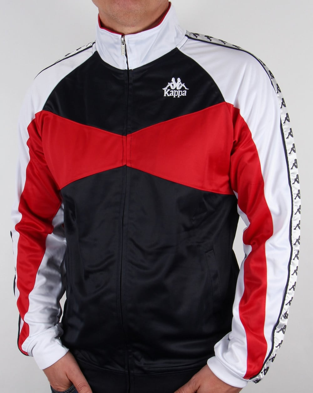 Robe Di Kappa Trafford Track Top Navy/Red/White,tracksuit ...