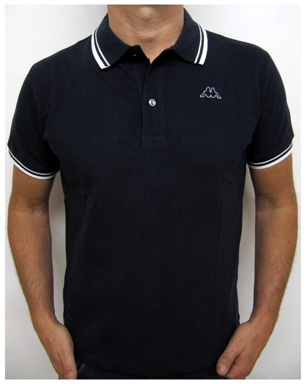 Robe Di Kappa Twin Tipped Polo Shirt Navy/white
