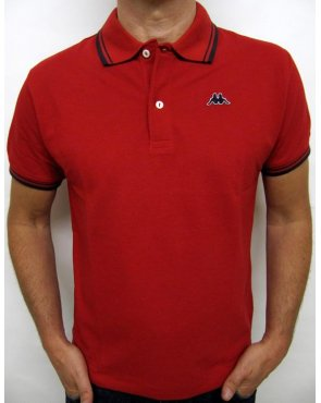 Robe Di Kappa Twin Tipped Polo Shirt Red/navy
