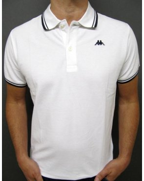 Robe Di Kappa Twin Tipped Polo Shirt White/navy