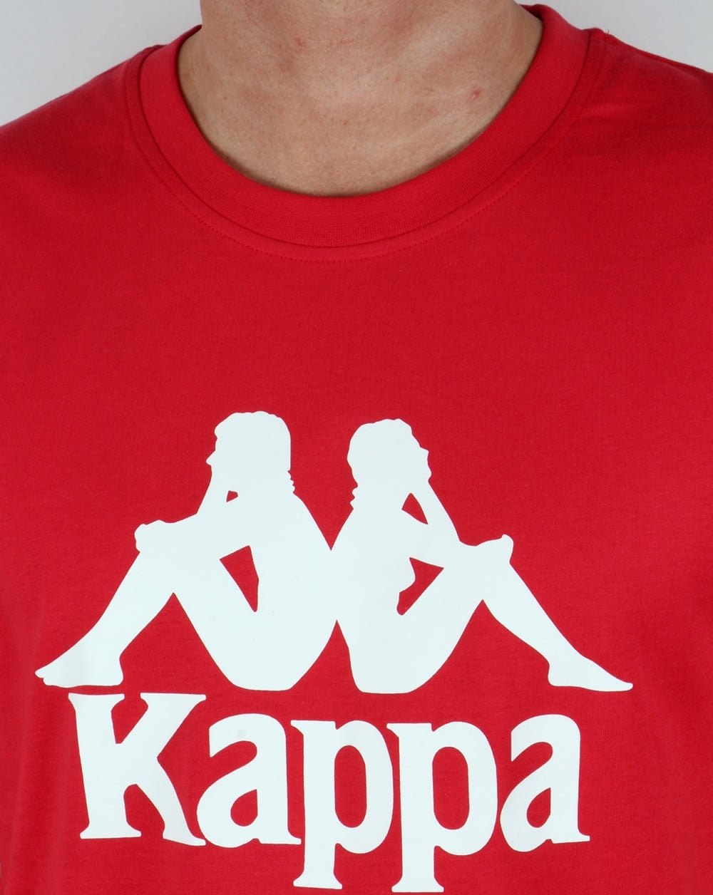 Robe Di Kappa Whaddon T Shirt Red Tee Logo Mens