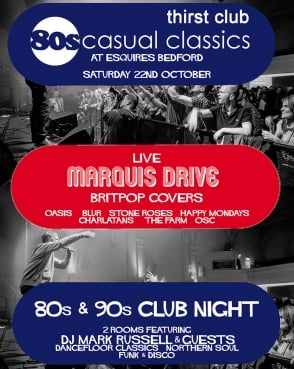 80s Casual Classics Sat 22nd Oct -Live Band & 80s 90s Club Night