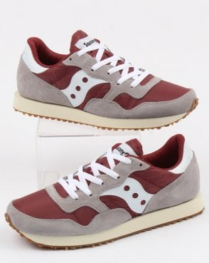 Saucony Dxn Trainers Grey/maroon