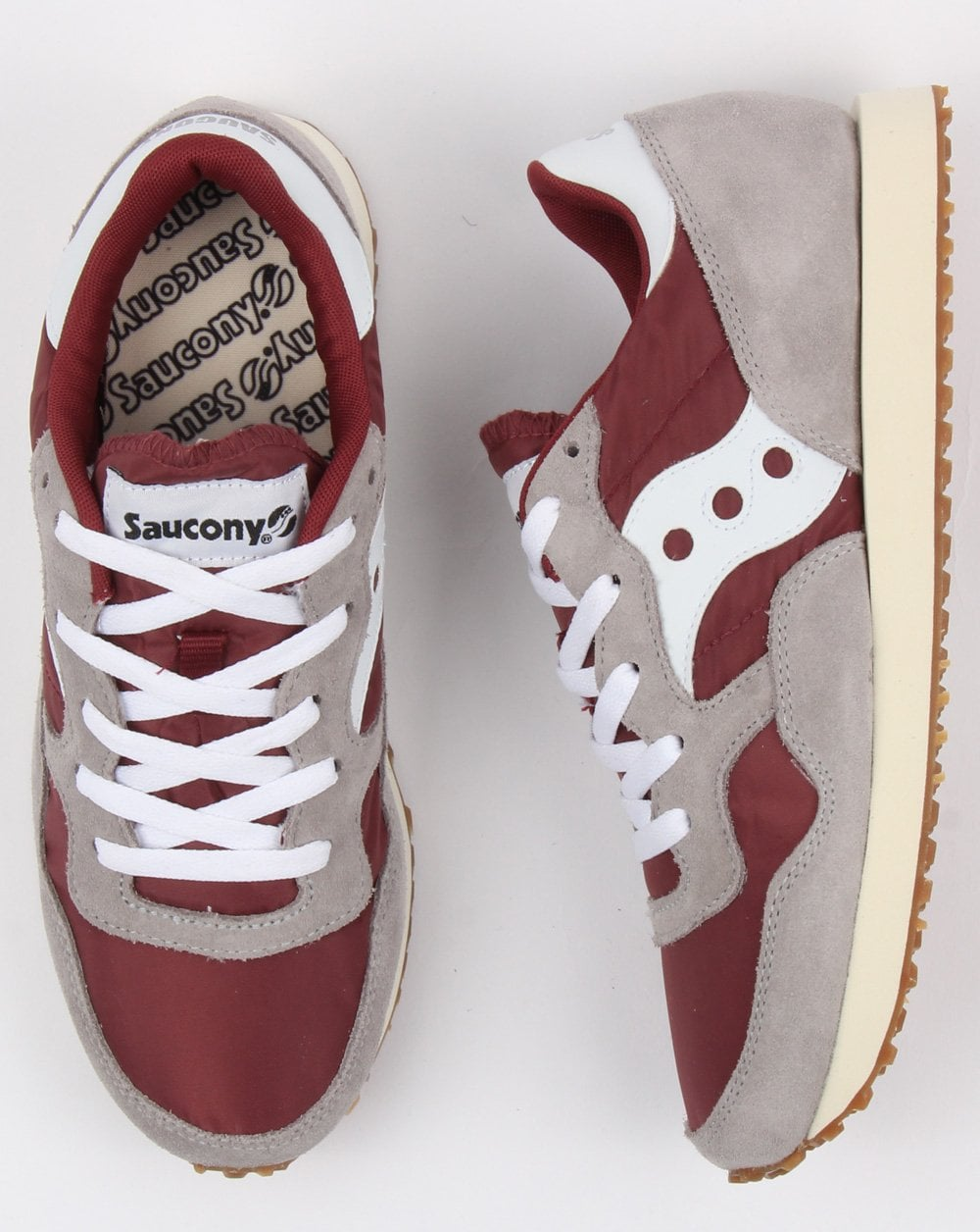 97179a5cd7ad1 Saucony Dxn Trainers Grey/maroon