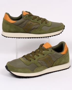 Saucony Dxn Trainers Olive Green