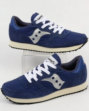 Saucony Dxn Vintage Trainers Navy/silver
