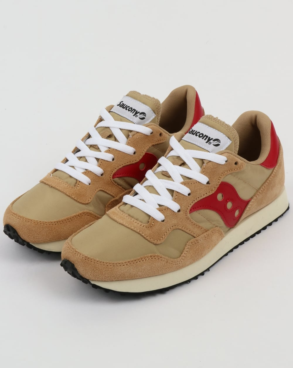 d76b9583edd8 Saucony DXN Vintage Trainers Tan Red