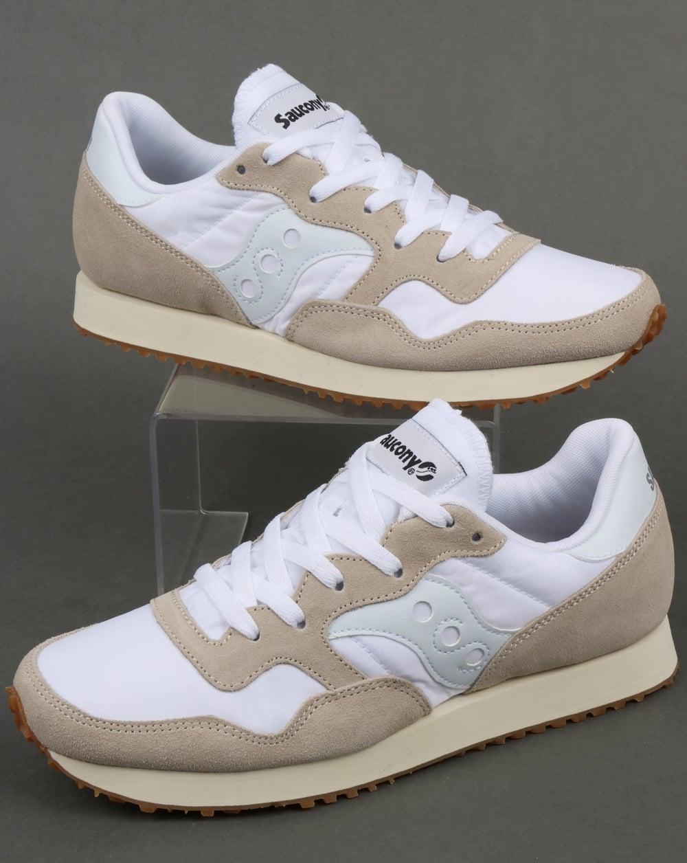 a2010c945e92f Saucony DXN Vintage Trainers White/Gum