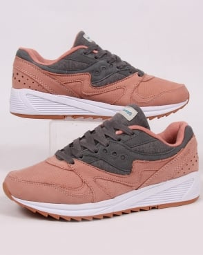 Saucony Grid 8000 Trainers Salmon/grey