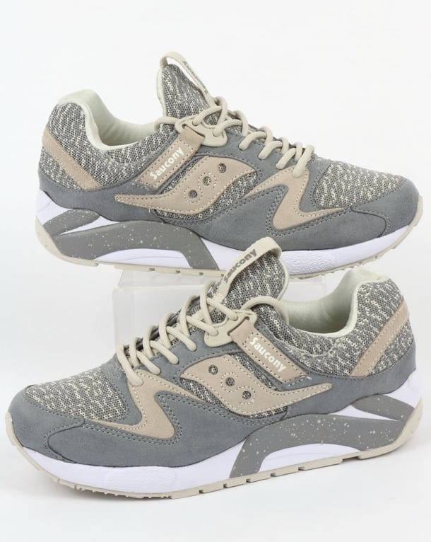 Saucony Grid 9000 Knit Trainers Grey