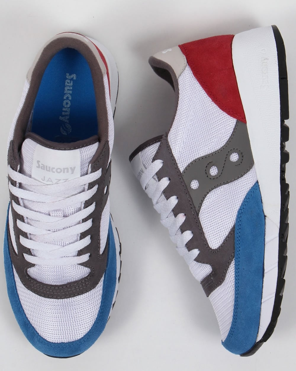 640a72e1c544 Saucony Jazz 91 Trainers White Red Blue