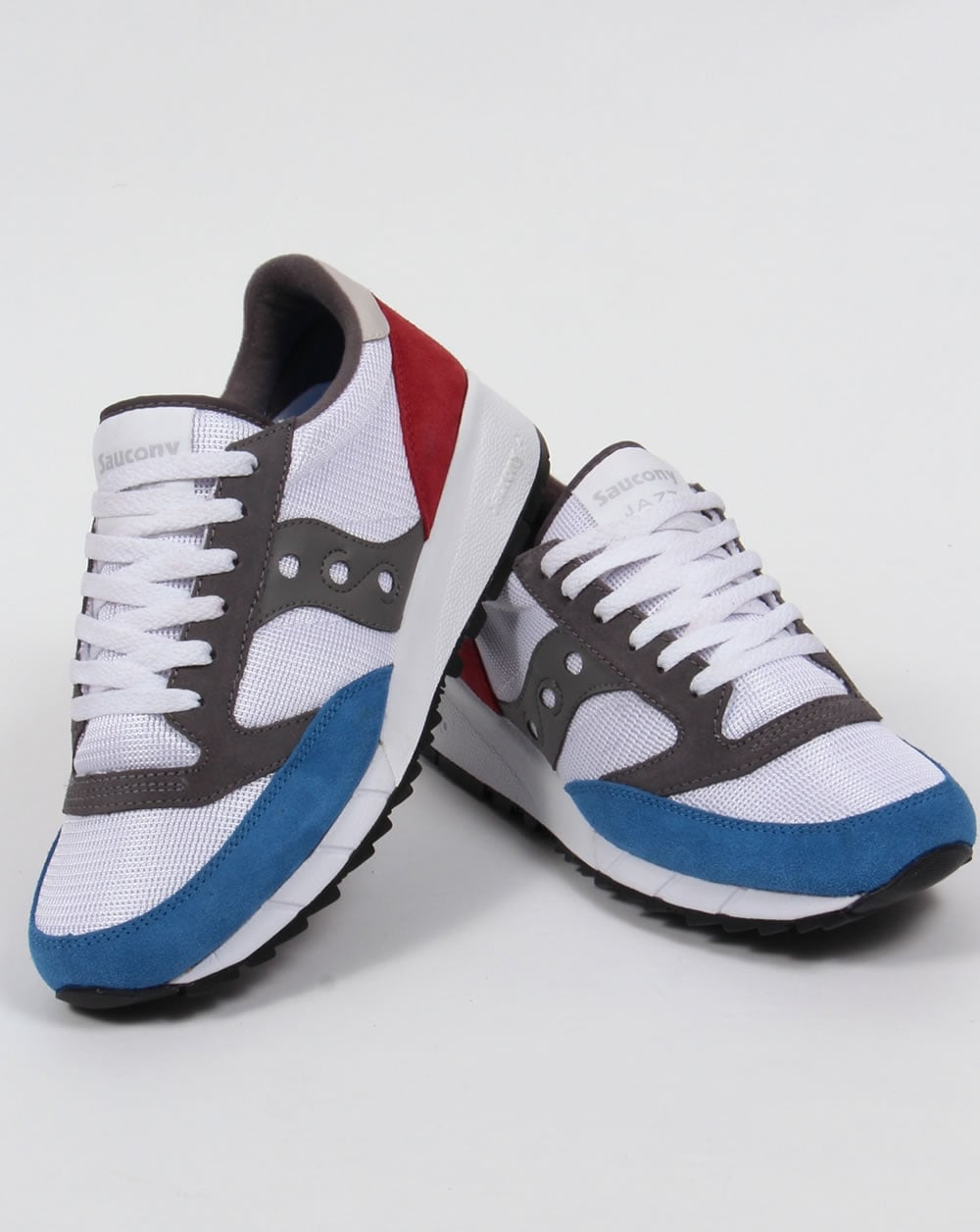 saucony jazz red white blue for sale