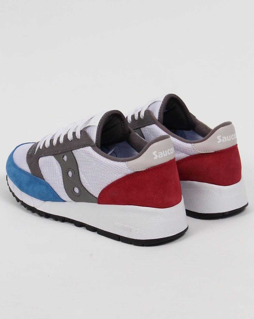 d9ef35de1f Saucony Jazz 91 Trainers White/Red/Blue