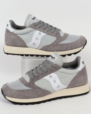 Saucony Jazz Original Trainers Grey/White