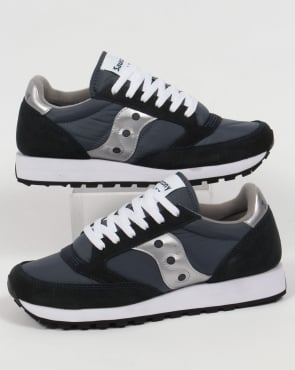 Saucony Jazz Original Trainers Navy/Silver