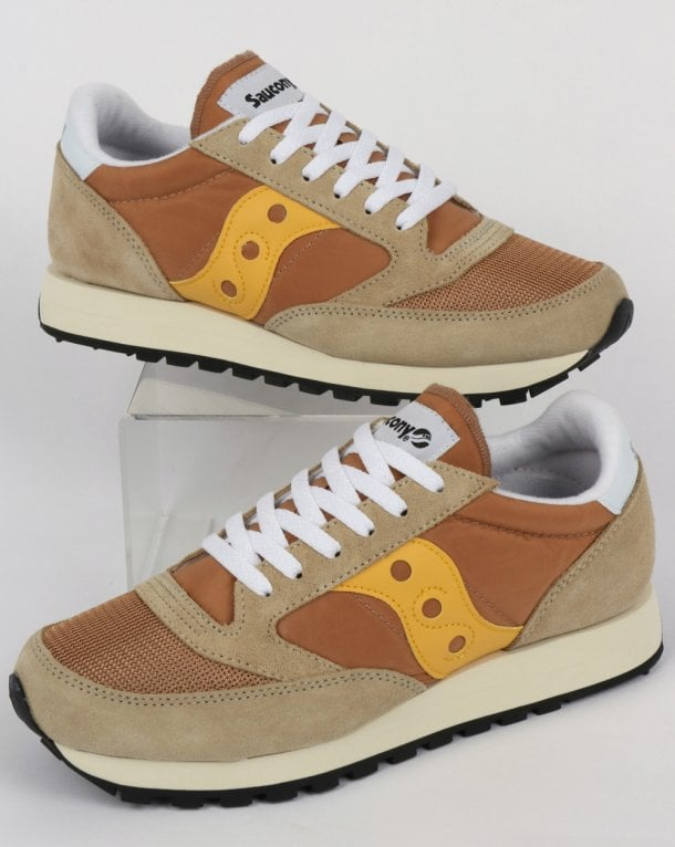 Saucony Jazz Original Vintage Trainer Tan/Yellow