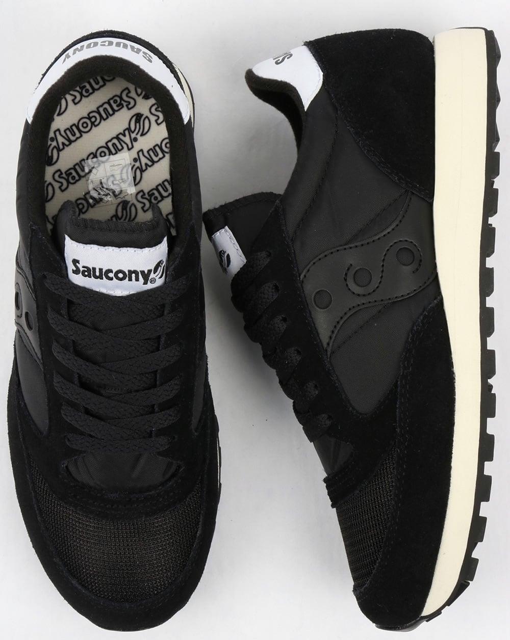 saucony black trainers