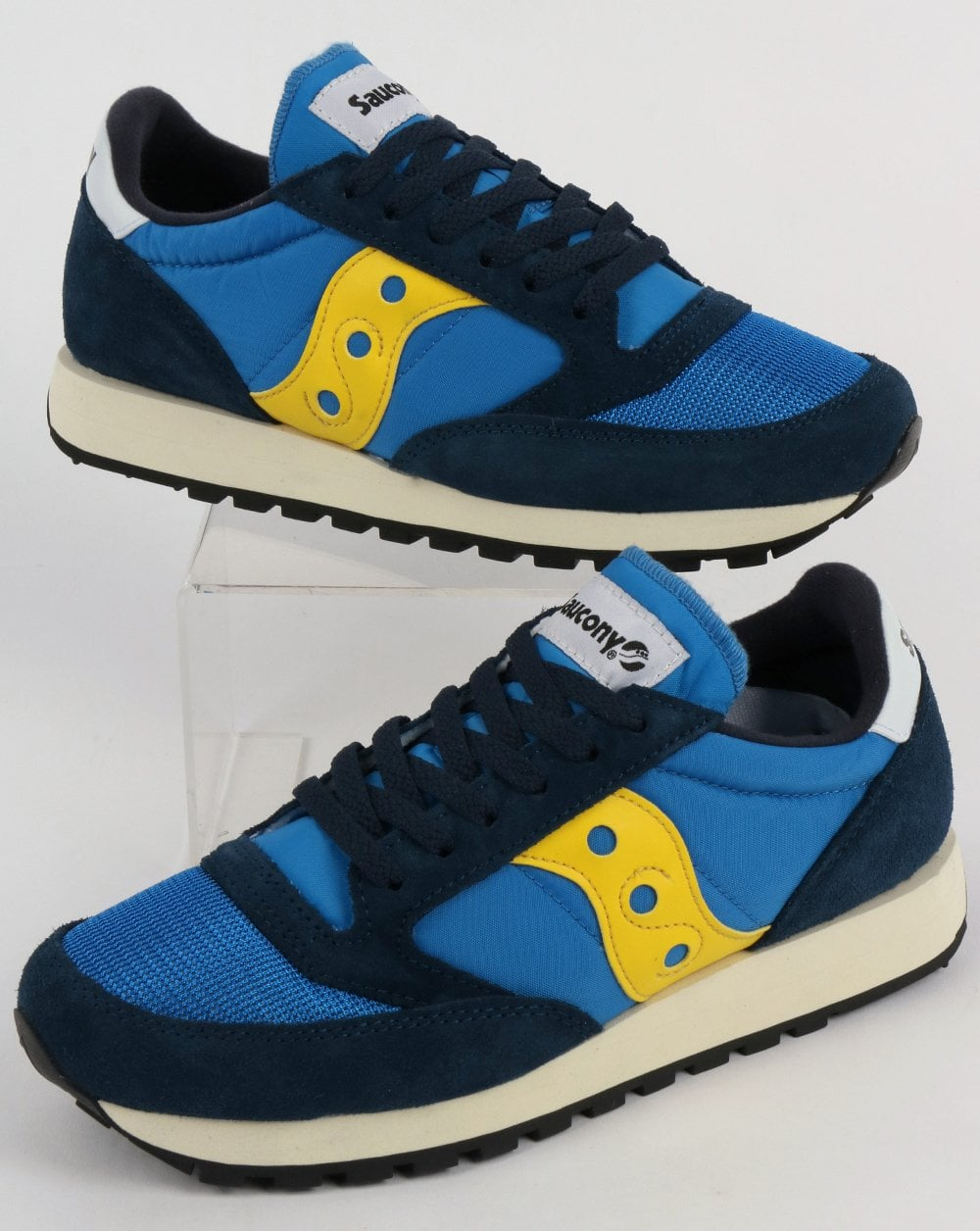buy online 27515 468a3 Saucony Jazz Original Vintage Trainers Blue/Yellow