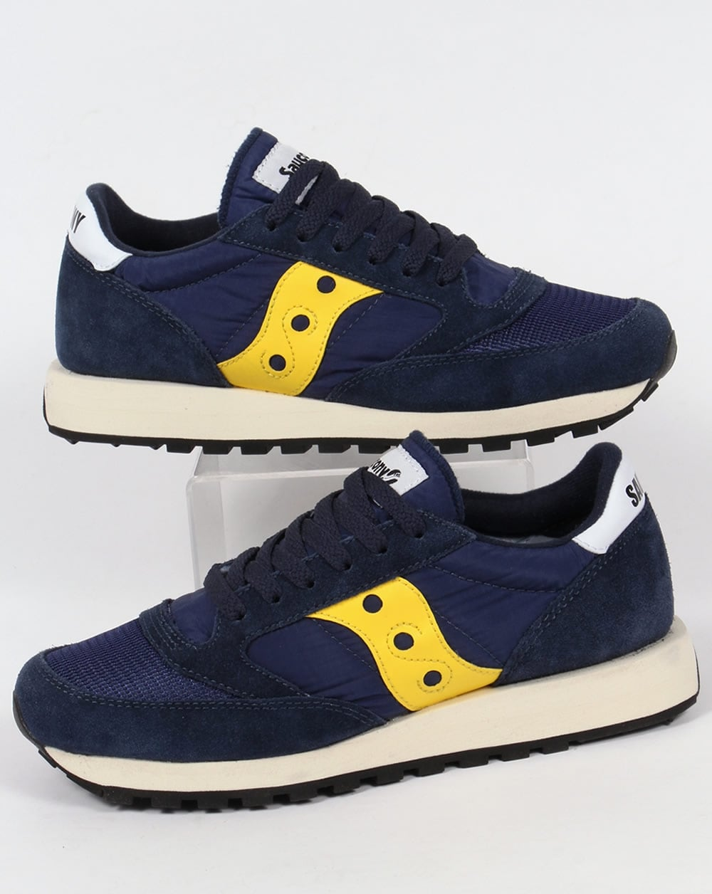 70ce3bac02 Saucony Jazz Original Vintage Trainers Blue/Yellow,runners,shoes,80s ...