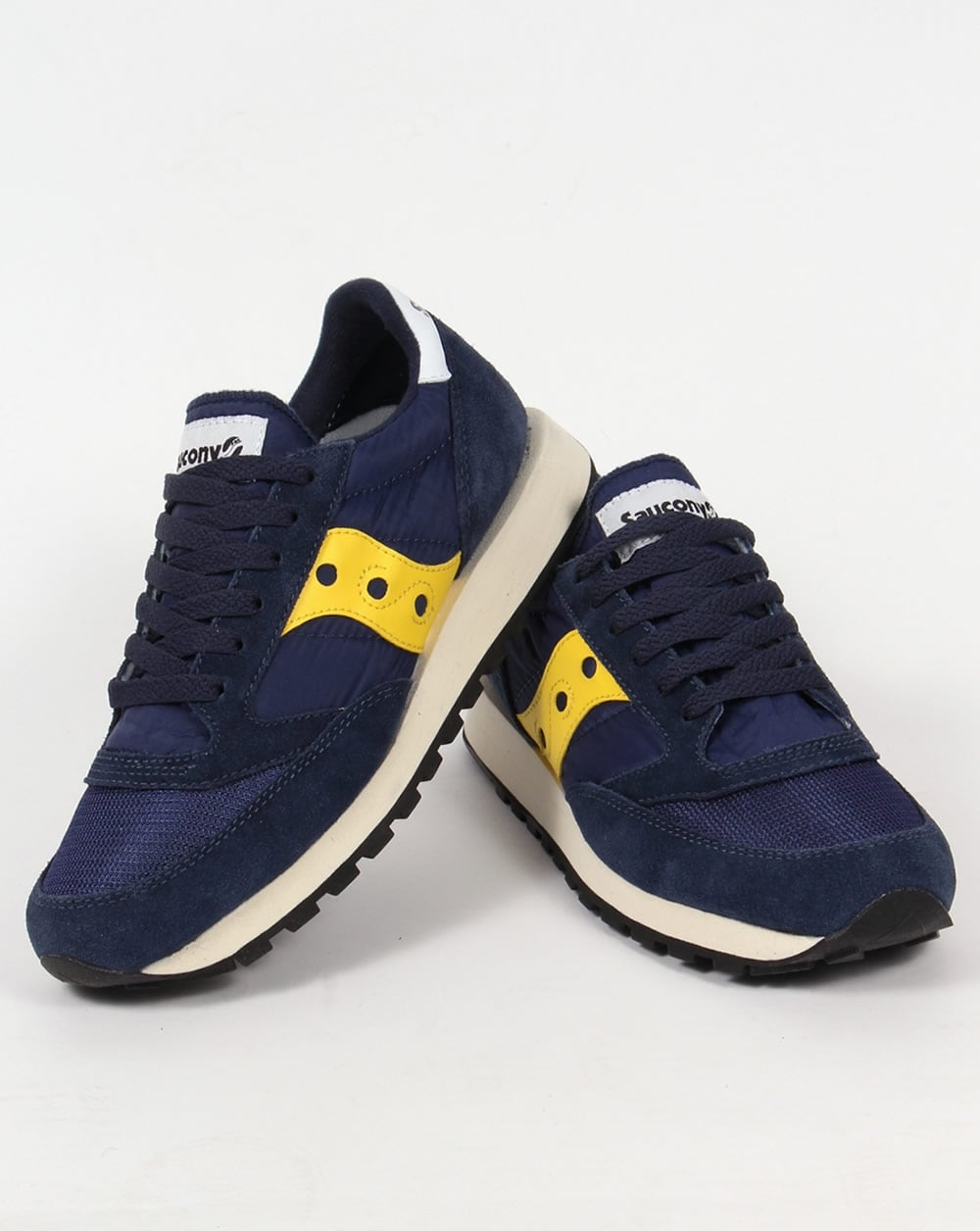 Saucony Jazz Original Vintage Trainers Blue Yellow daf6b45c199b