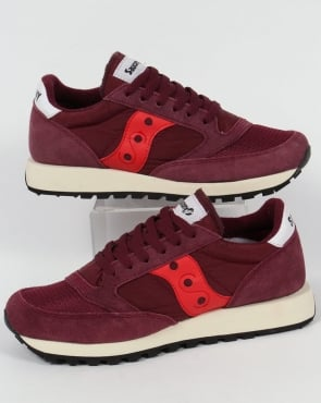 Saucony Jazz Original Vintage Trainers Burgundy/Red