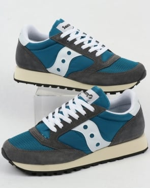 Saucony Jazz Original Vintage Trainers Castle Rock/Teal