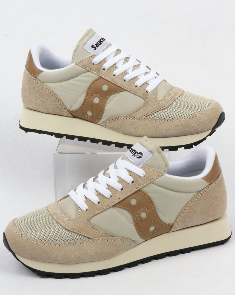 bcdb41e1d9 Saucony Jazz Original Vintage Trainers Cement/Tan