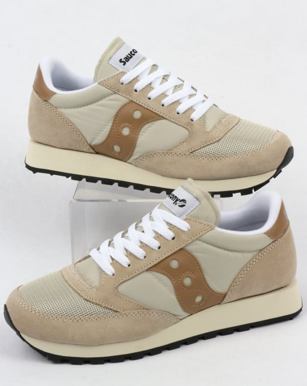 cf0e765bb6 Saucony Jazz Original Vintage Trainers Cement/Tan,runners,shoes,80s,mens