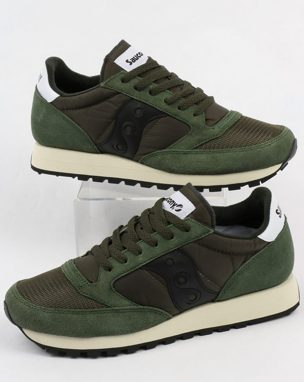f62866c4ed2e Saucony Saucony Jazz Original Vintage Trainers Dark Green Black