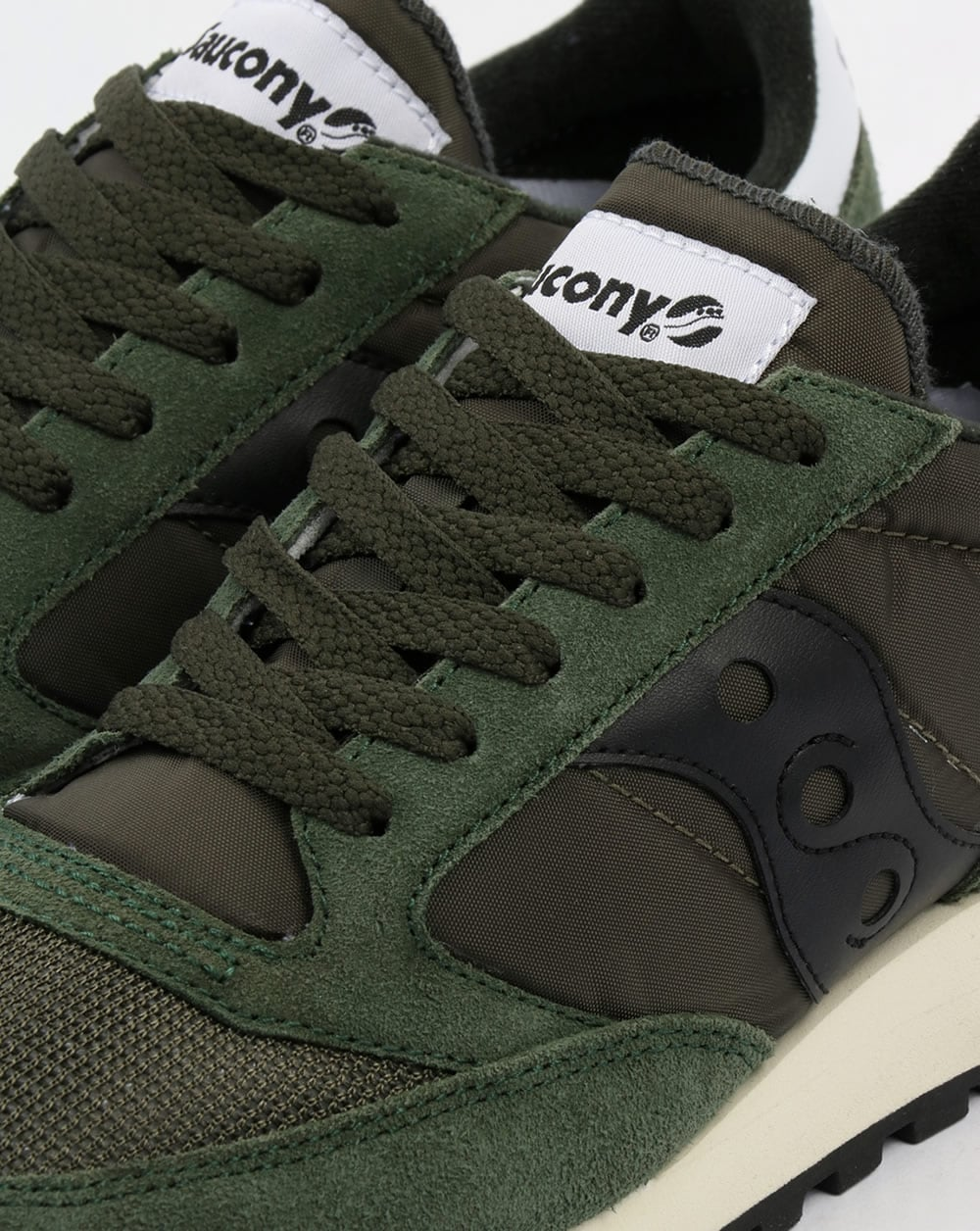 9308c88f42 Saucony Jazz Original Vintage Trainers Dark Green/Black