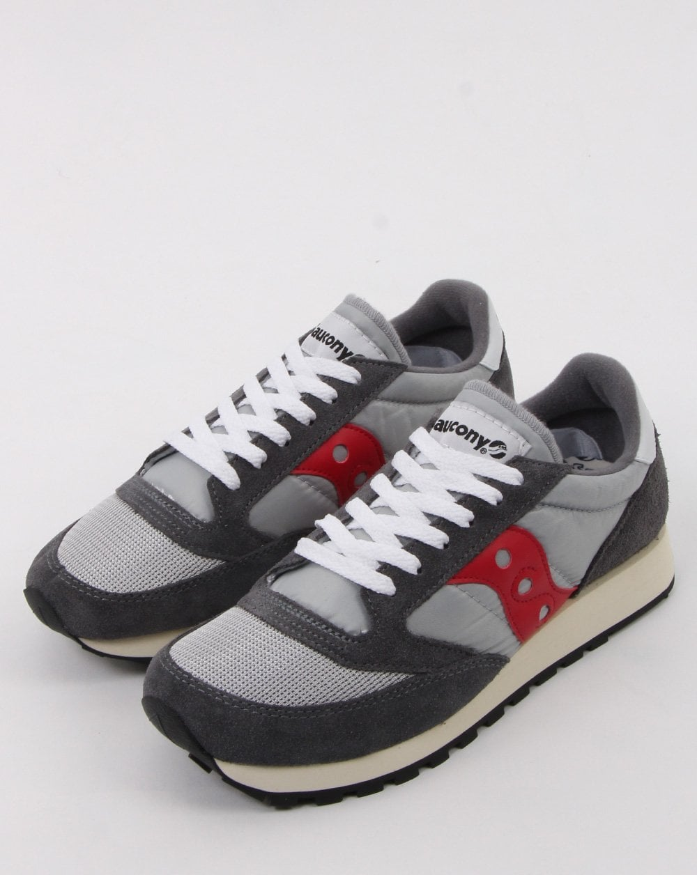 best service 80518 5144e Saucony Jazz Vintage Trainers in Grey/Red | 80s casual classics