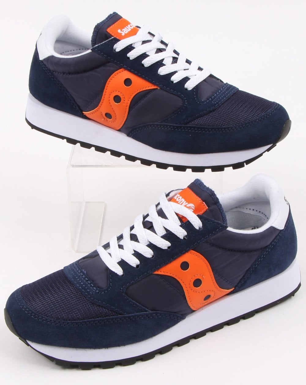 quality design 33ccd ccd02 Saucony Jazz Original Vintage Trainers Navy/Orange