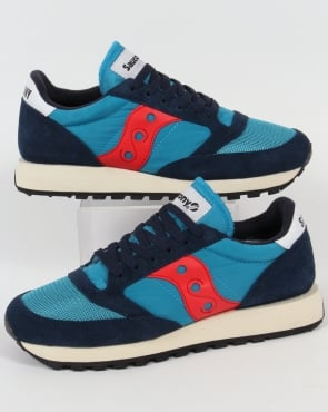 Saucony Jazz Original Vintage Trainers Navy/Red