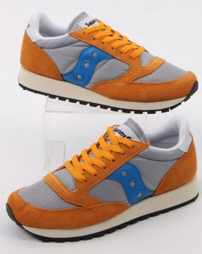 Saucony Jazz Original Vintage Trainers Orange/grey/blue
