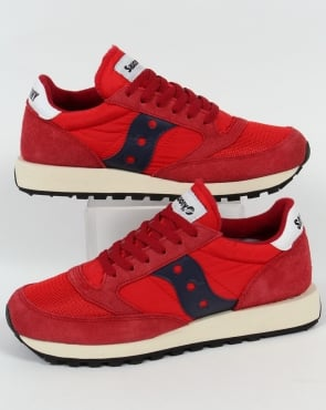 Saucony Jazz Original Vintage Trainers Red/navy
