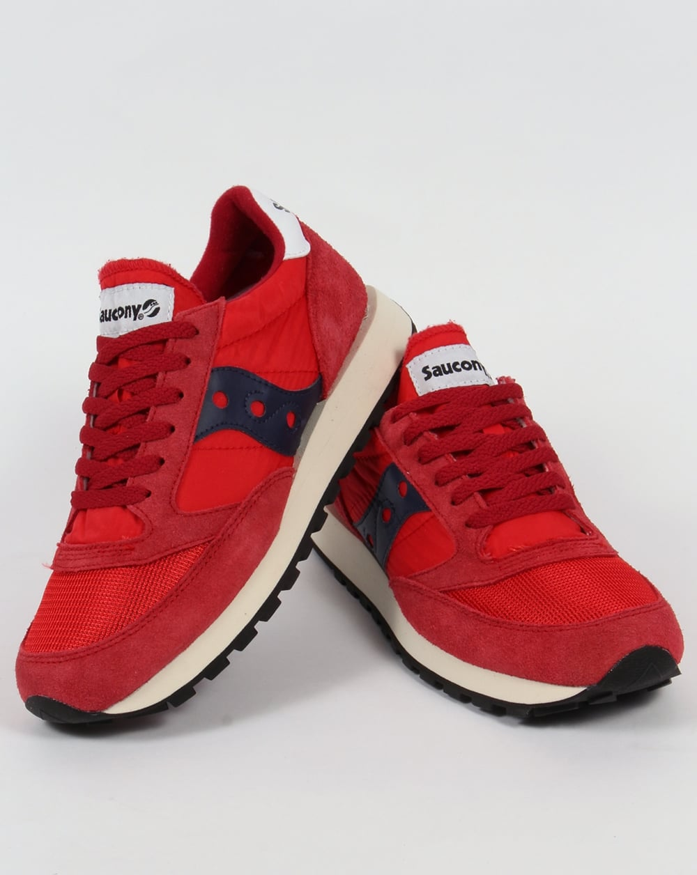 on sale 506bf e30e9 Saucony Jazz Original Vintage Trainers Red/Navy